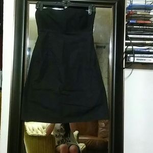 Gap black strapless dress